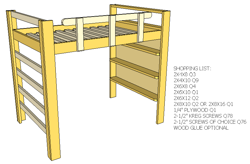 Full Size Loft Bed | Kids | Pinterest | Lofts, Room and Kids rooms