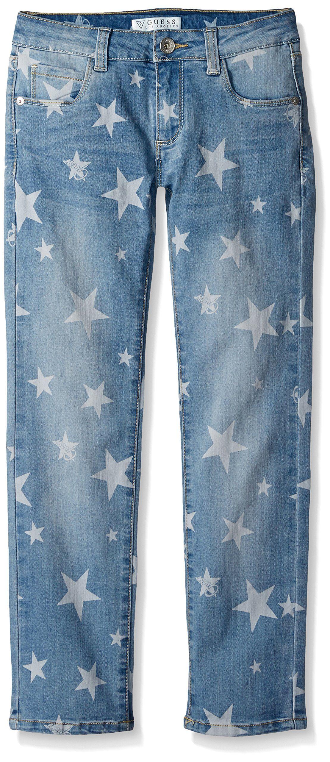 Guess Girls Big 5Pocket Loose Fit Jean Stars Light Wash 8