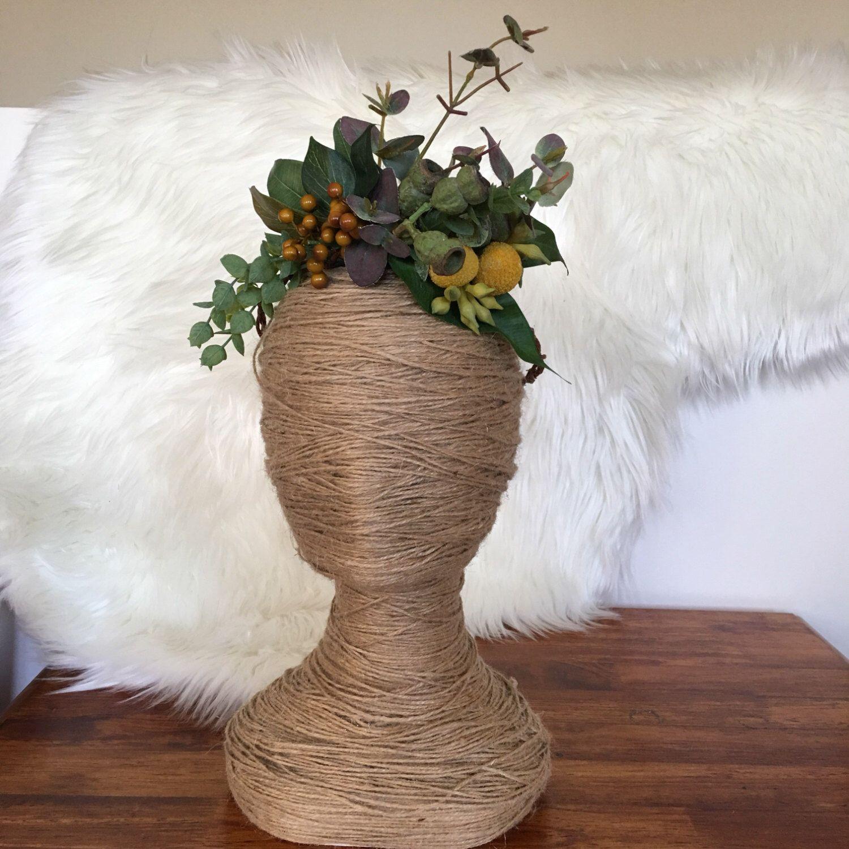 Artificial boho flower crown floral wreath racewear hair artificial boho flower crown floral wreath racewear hair flowers bride fake izmirmasajfo
