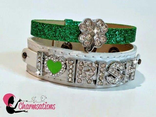 St Patty's day inspired double bracelet