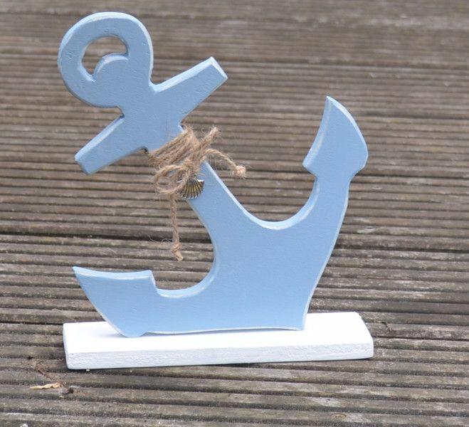 Deko-Objekte - Anker klein (helleres Blau) - ein Designerstück von Creative-Holz bei DaWanda #weihnachtsmarktideenverkauf