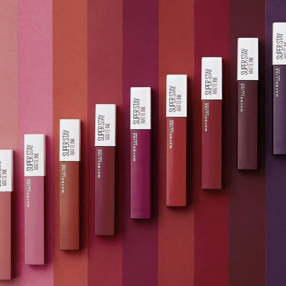 اجمددددددد روج ممكن تتخيله سيت روج سوبر ستاي وهممممي ماتريال يا جماعه تحفه اورررررررجنال Maybelline Super Stay Maybelline Matte Ink Lip Colors