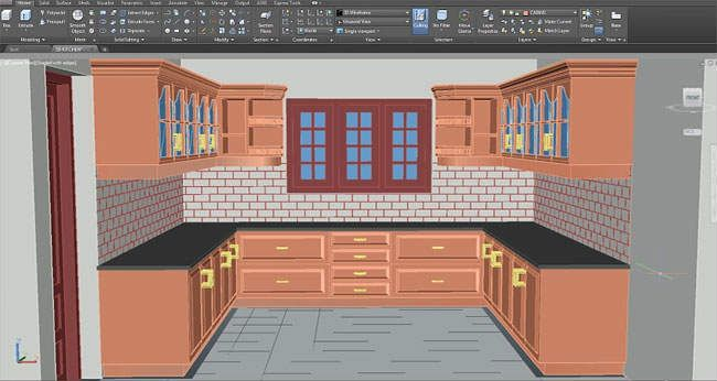 Hatching In Autocad For 3D Kitchen Design  Architecture Admirers Cool Kitchen Design Cad Software Inspiration Design