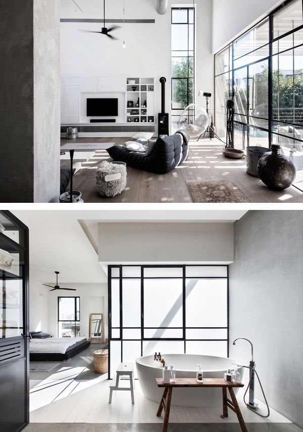 AN INDUSTRIAL CHIC HOME IN TEL AVIV, ISRAEL | THE STYLE FILES ...