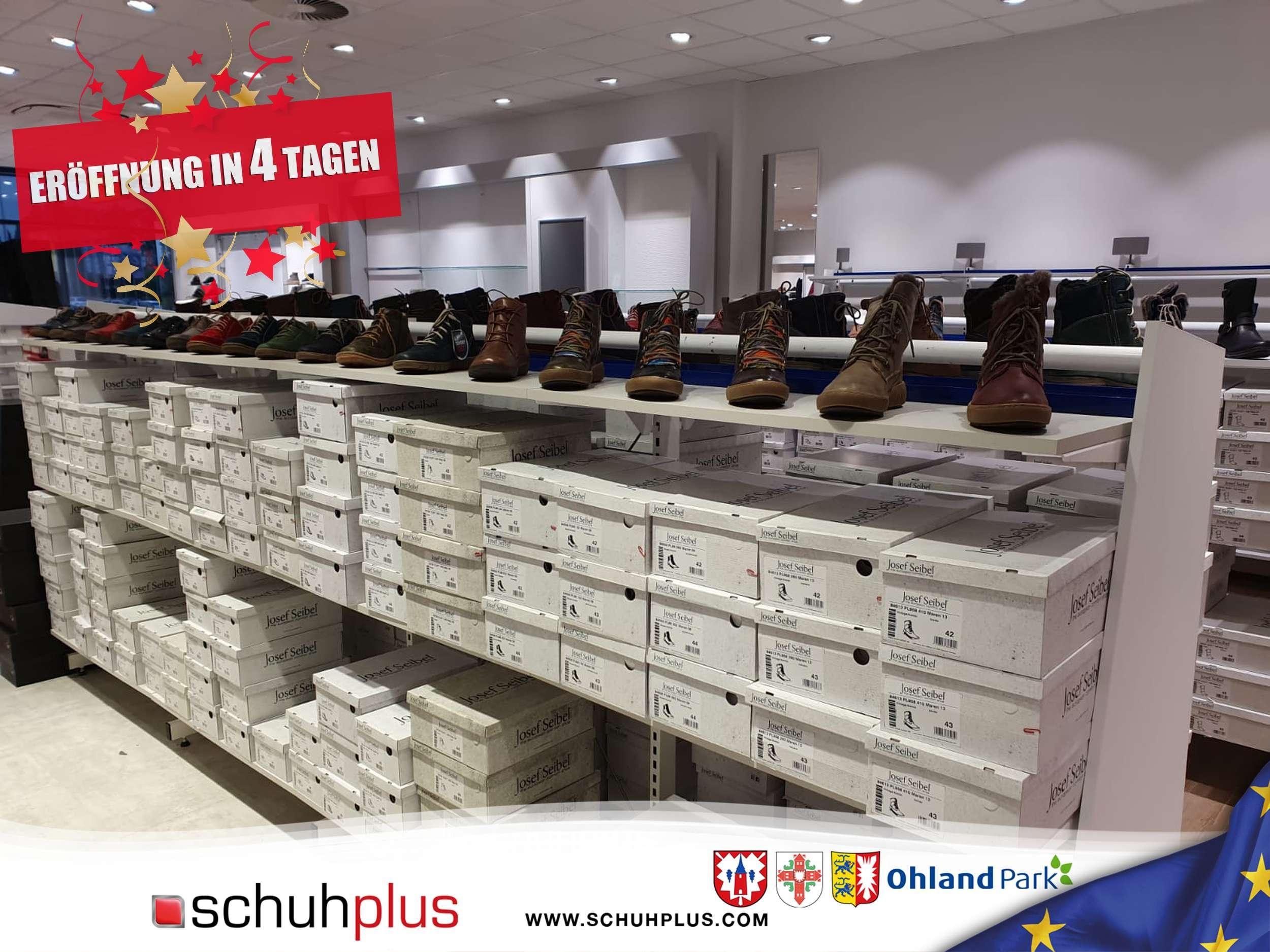 Countdown bis zur Eröffnung der Filiale von schuhplus https