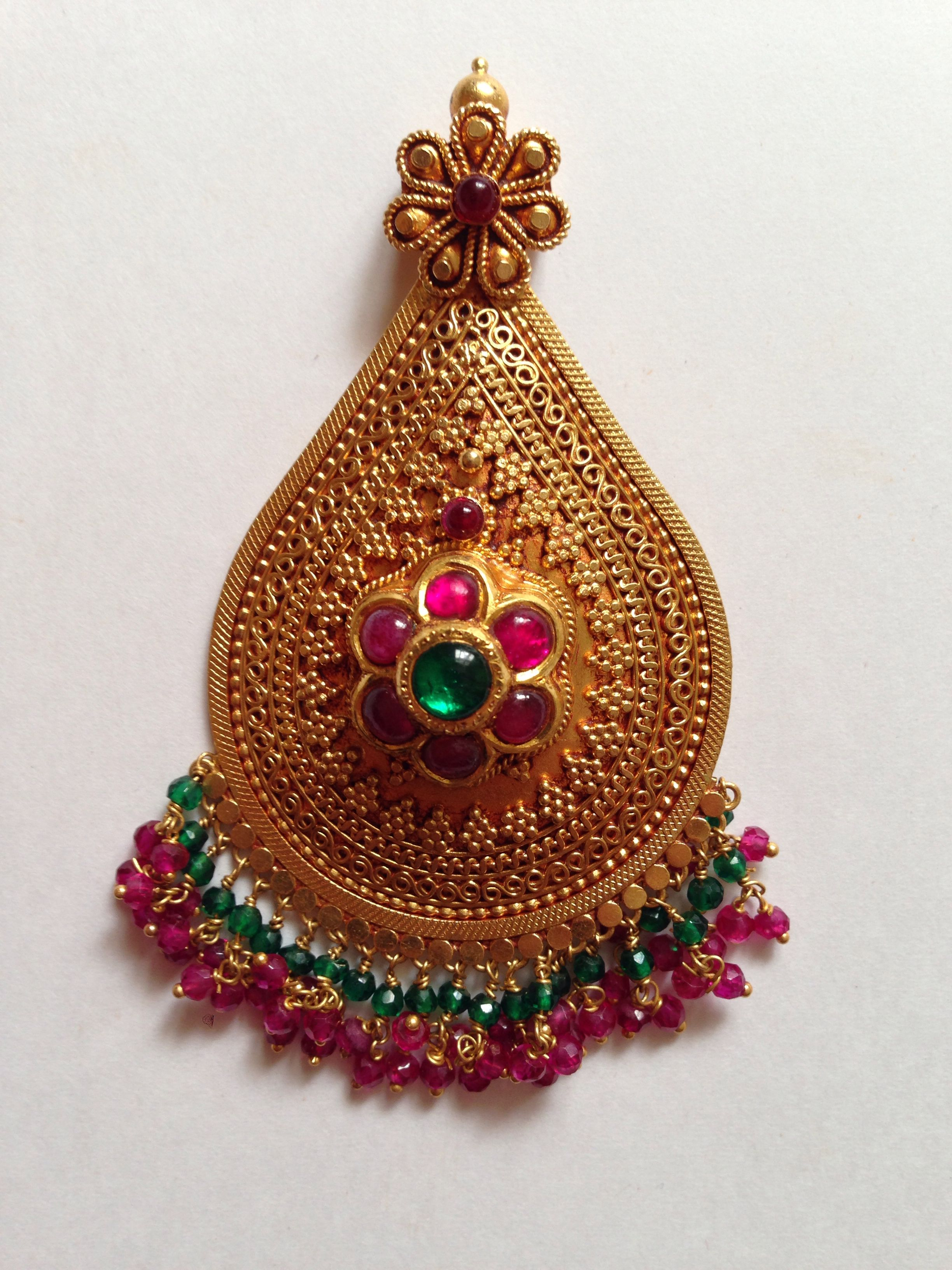 Antique pendant gold jewellery pinterest