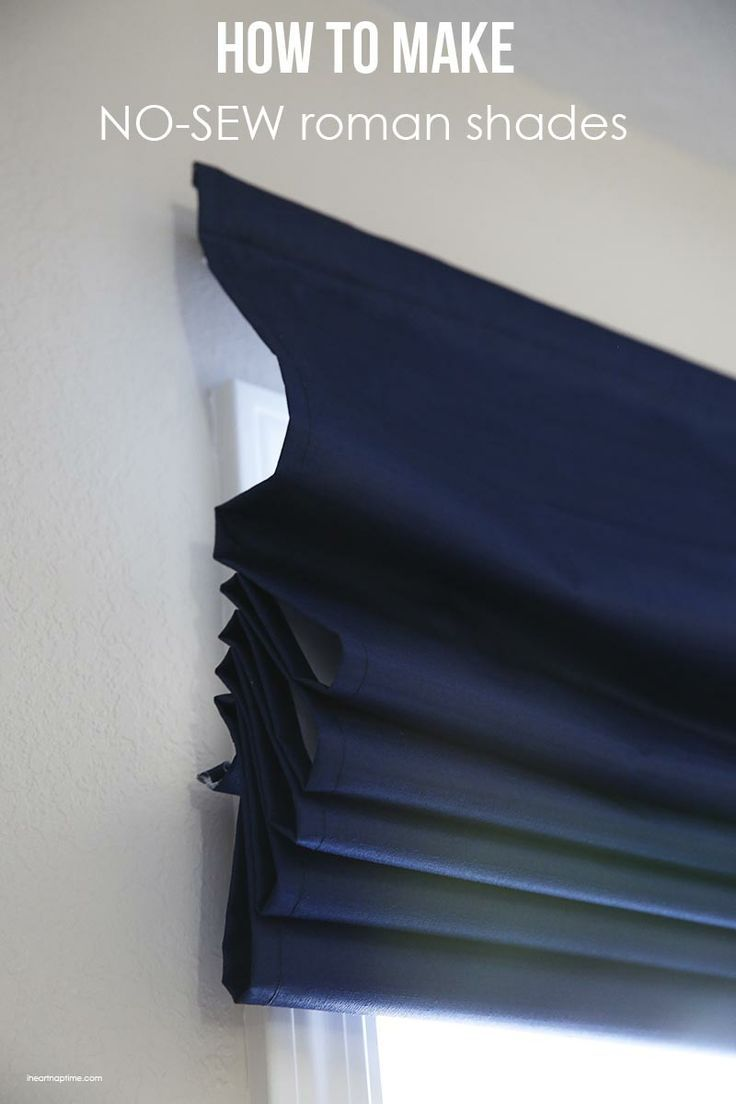 How To Make Inexpensive No Sew Roman Shades The Inspiration