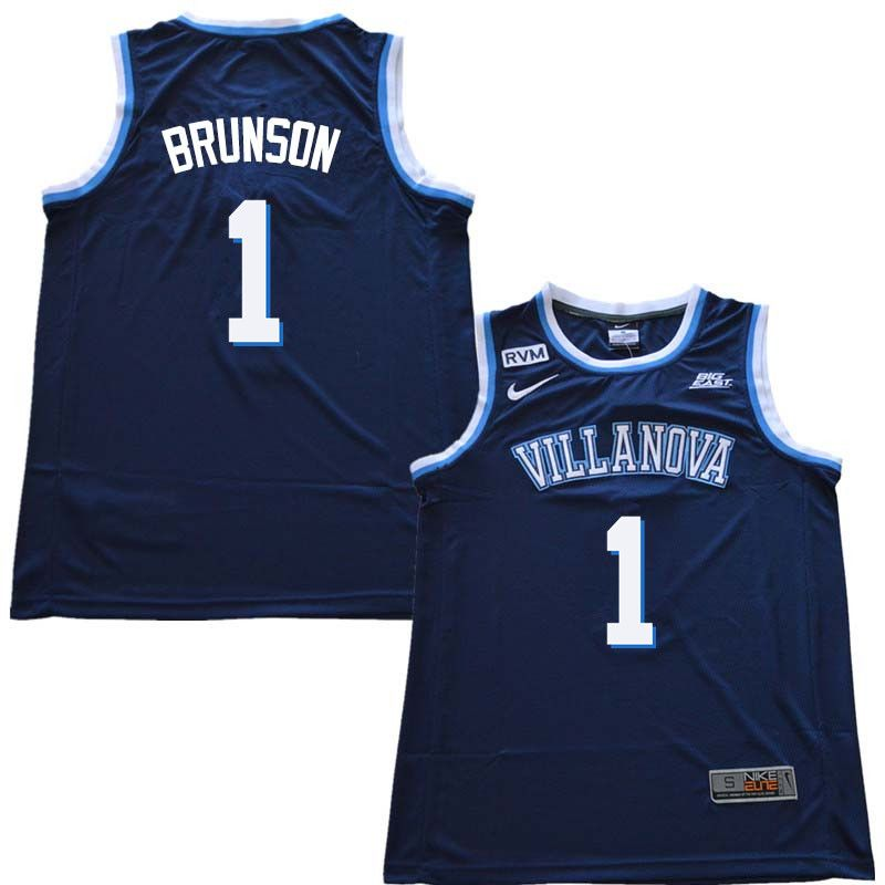 2f1939bbb1f2 2018 Men  1 Jalen Brunson Willanova Wildcats College Basketball Jerseys  Sale-Navy