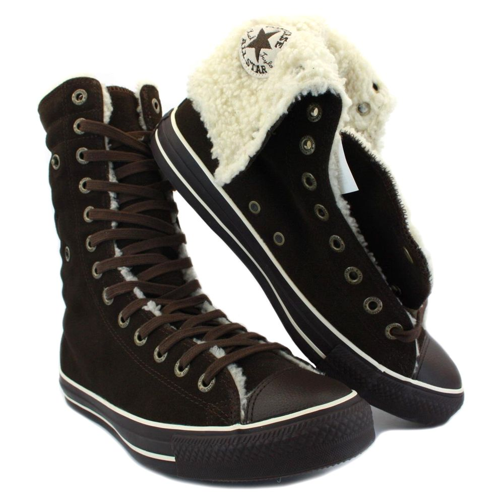 Converse Knee High Boots Details About Converse Knee High 111514 Unisex Fur Hi Top Suede Converse Shoes Outfit Converse Sneakers Fashion