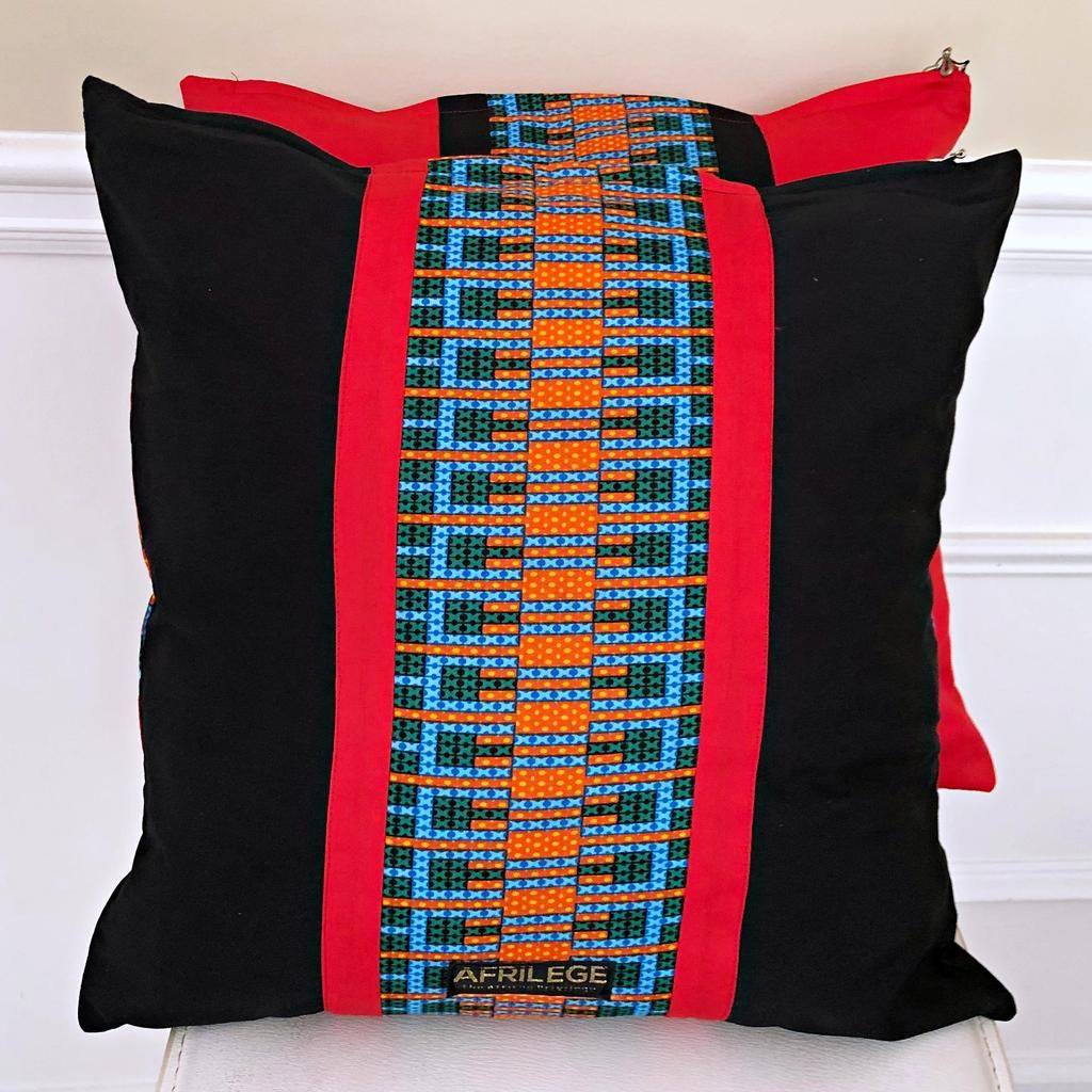 Jayde African Print Decorative Pillow cushions Red
