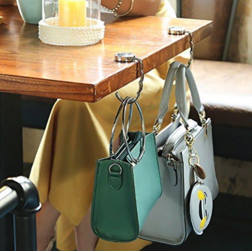 Portable Metal Foldable Table Women Bag Purse Hook Hanger Holder Shell Bag Gifts