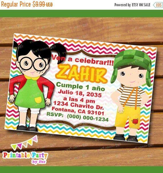 Invitations Invites Invitation Invitaciones El Chavo Del 8