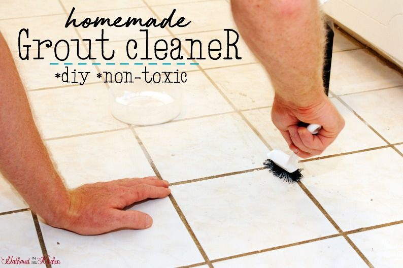 How to clean tile grout homemade cleaner recipe clean