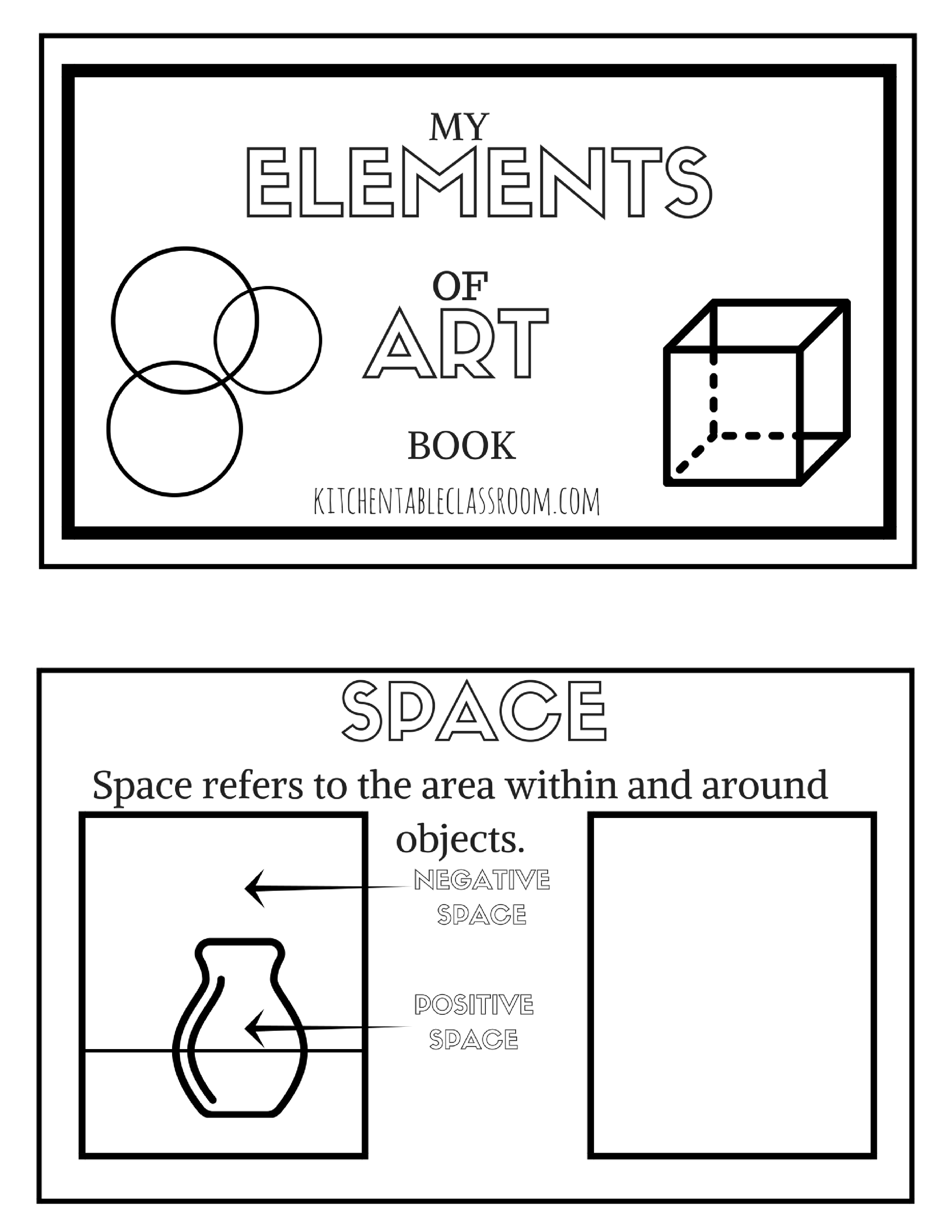 The Formal Elements Of Art For Kids With Free Printable Book The Kitchen Table Classroom Art Handouts Elements Of Art High School Art Lesson Plans [ 2485 x 1920 Pixel ]