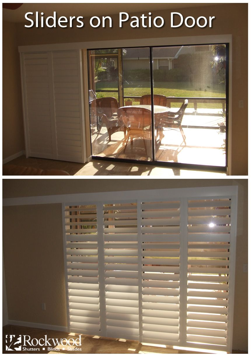Pin By Alma Herrera On Window Treatment Shutters Sliding Glass
