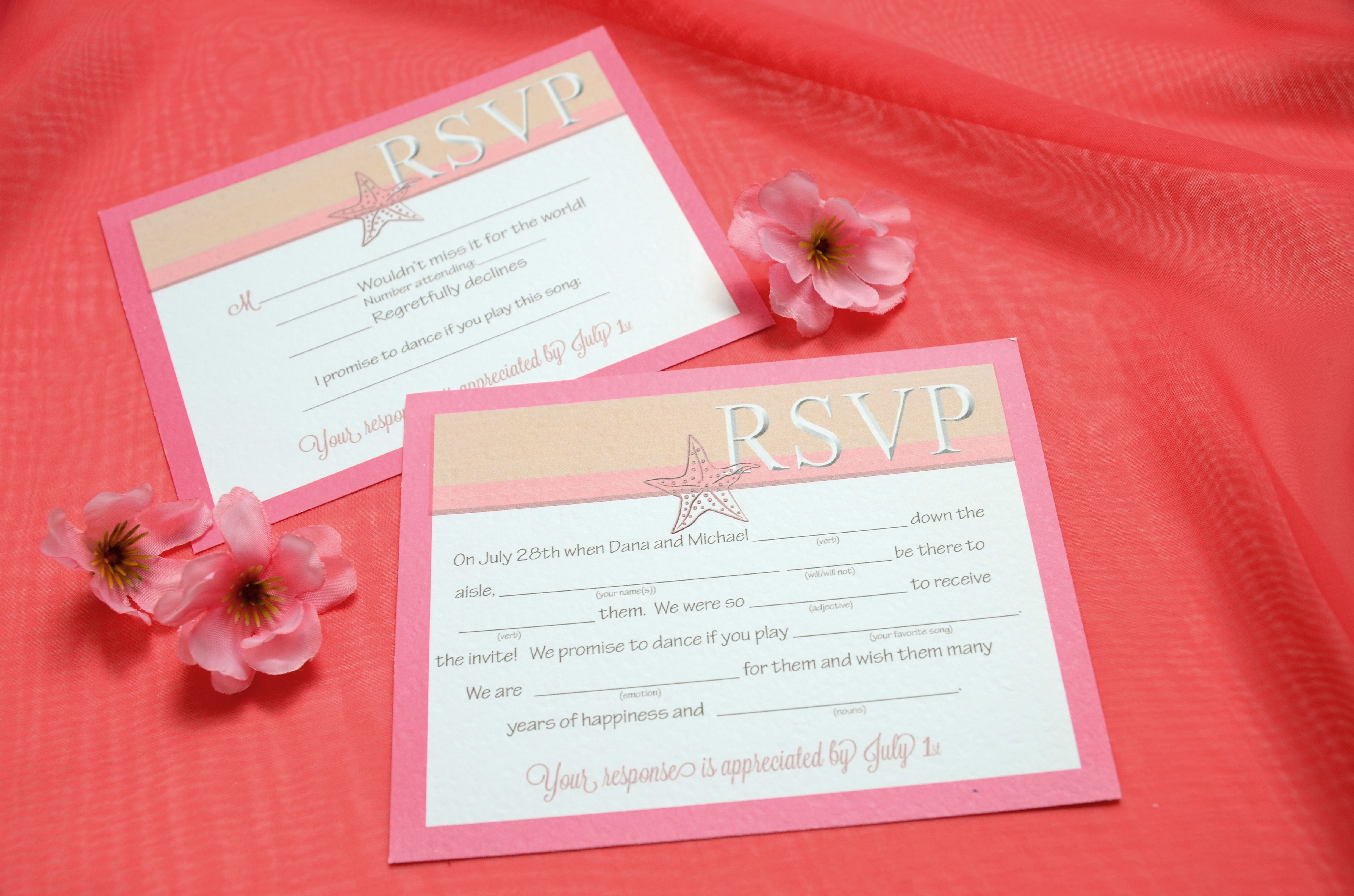 Mad Lib Style RSVP cards for your wedding invitations! | Wedding and ...