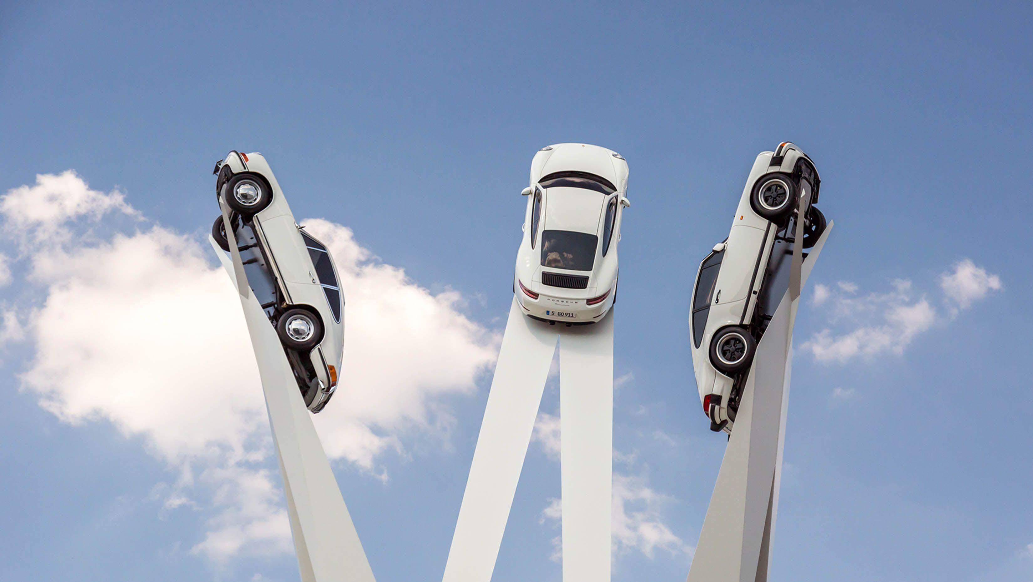 Meer dan verdiend: een standbeeld voor de Porsche 911