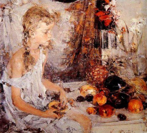 Nicolai Fechin (1881 – 1955, Russian) Iya With Melon