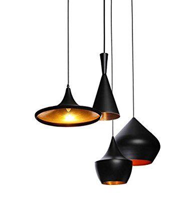 Reproduction Of Tom Dixon Beat Shade Tall Pendant Light Lamp Black Amazon Com Black Pendant Lamp Pendant Light Pendant Lamp