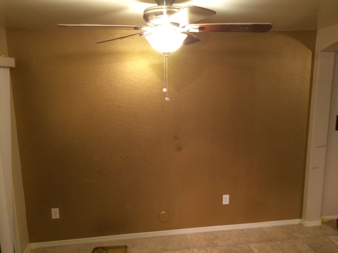 Metallic Gold Accent Wall Done With Ralph Lauren S Parlor Of Gold