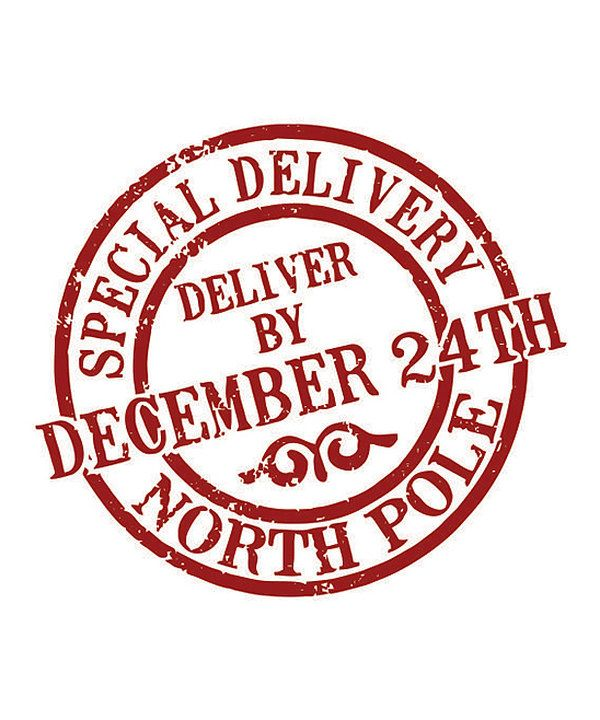 Take a look at this Burgundy 'Special Delivery' Stamp on zulily today!