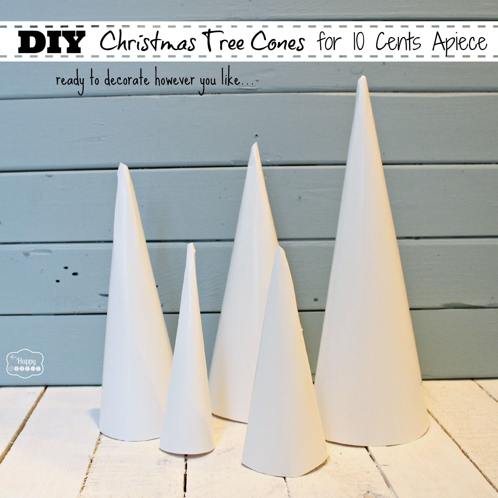 How To Make Christmas Tree Cone Craft Forms For 10 Cents Apiece The Happy Housie How To Make Christmas Tree Cone Christmas Trees Christmas Tree Crafts