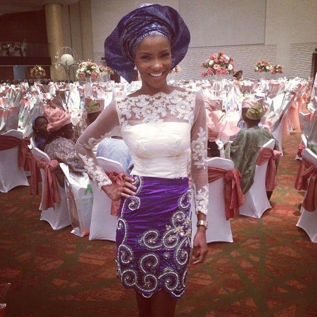 Agbani Darego at Daisy Danjuma's Son Yuki Omenai and Moriam Rotimi's Wedding