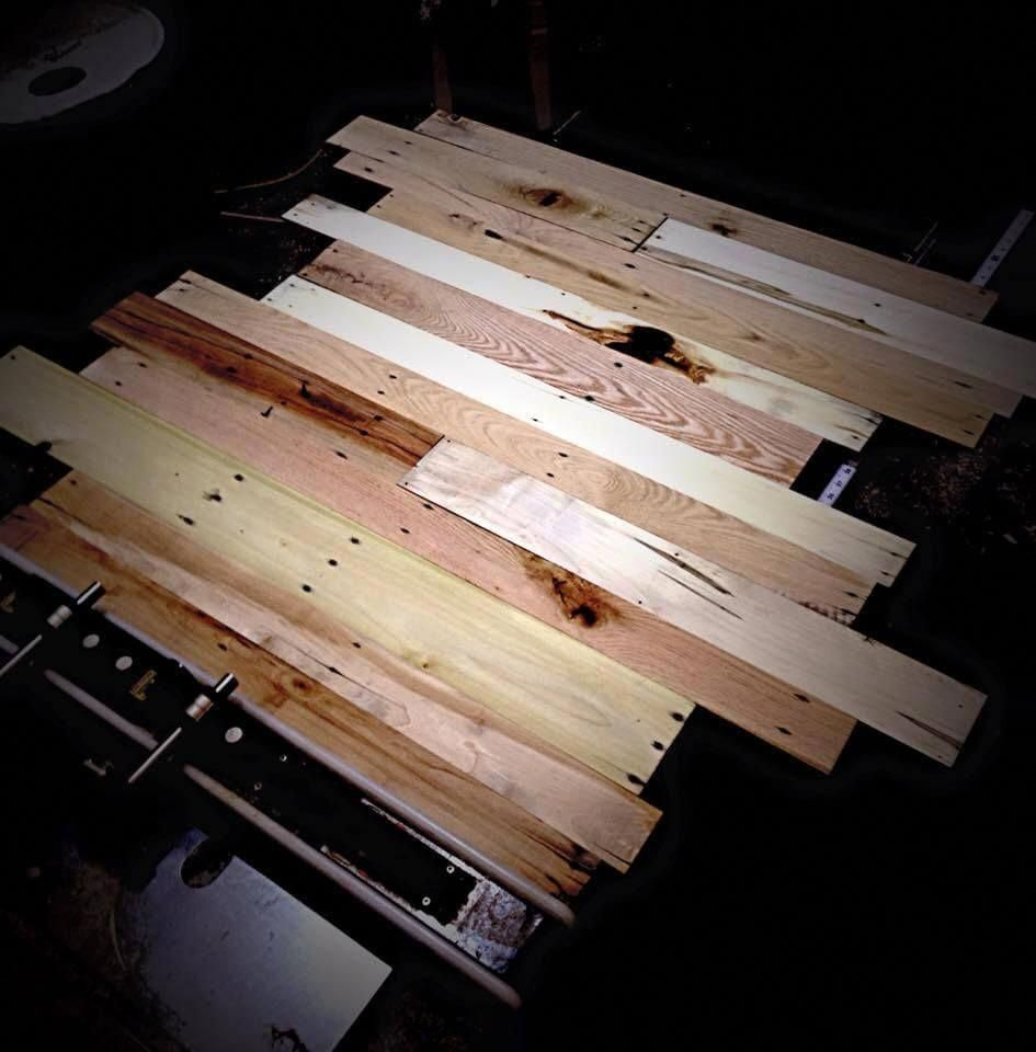 Pallet Flooring Easy to Build at no Cost