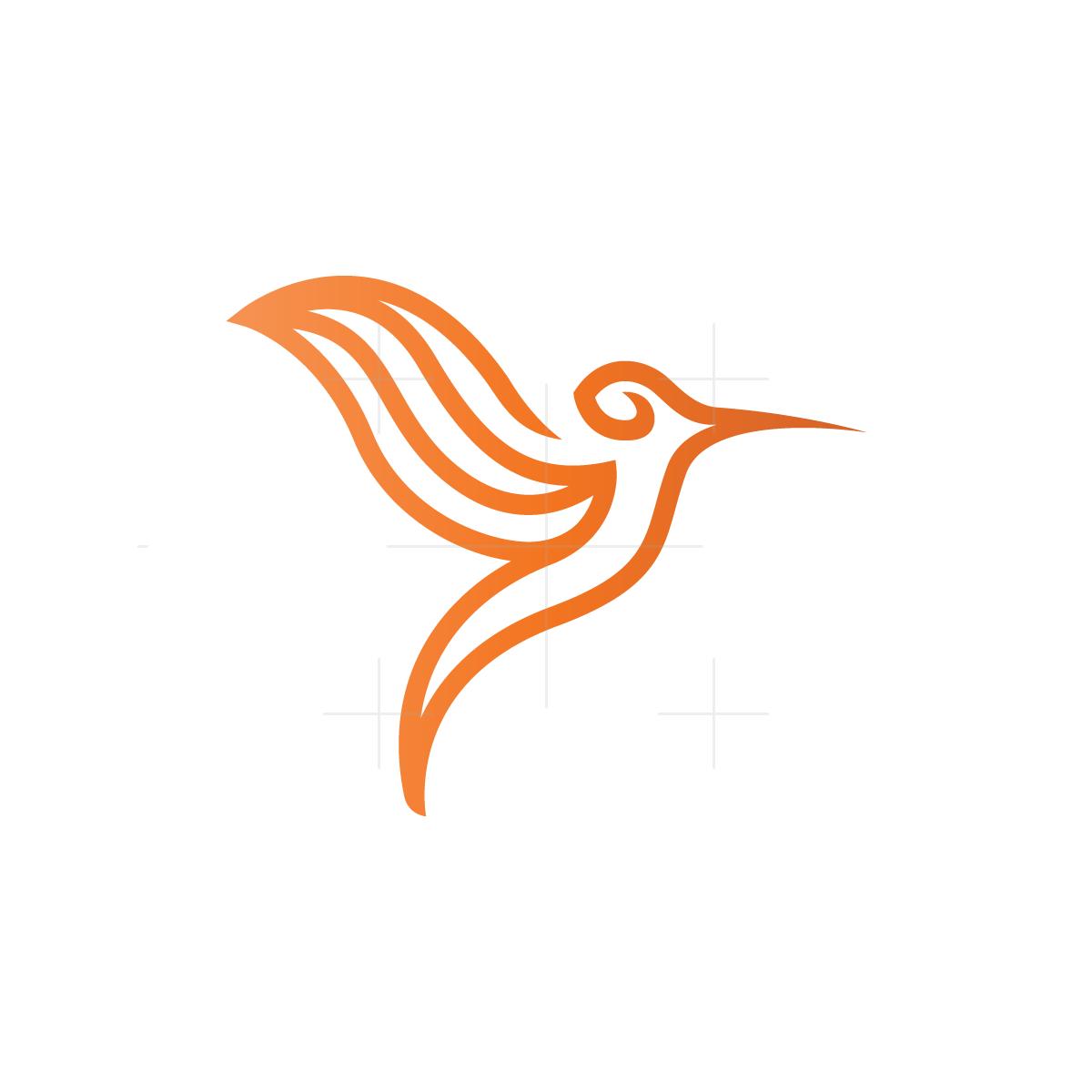 Hummingbird Logo Logos Logo Design Stylized