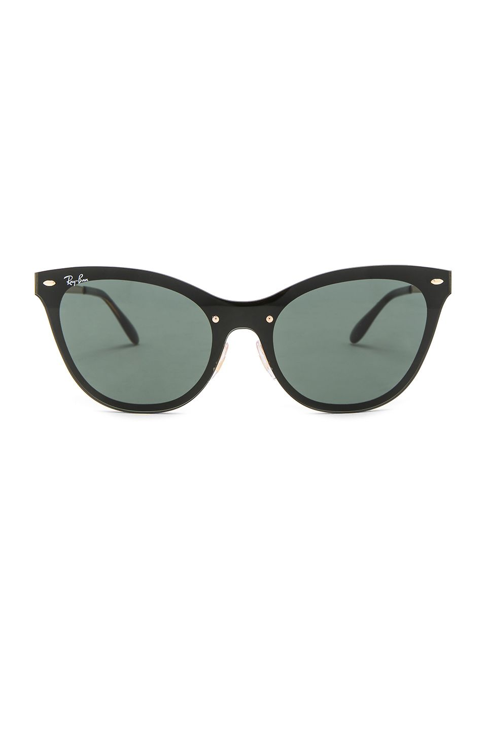 5ffc62bb1c81d Ray-Ban Blaze Cats in Gold   Green Classic