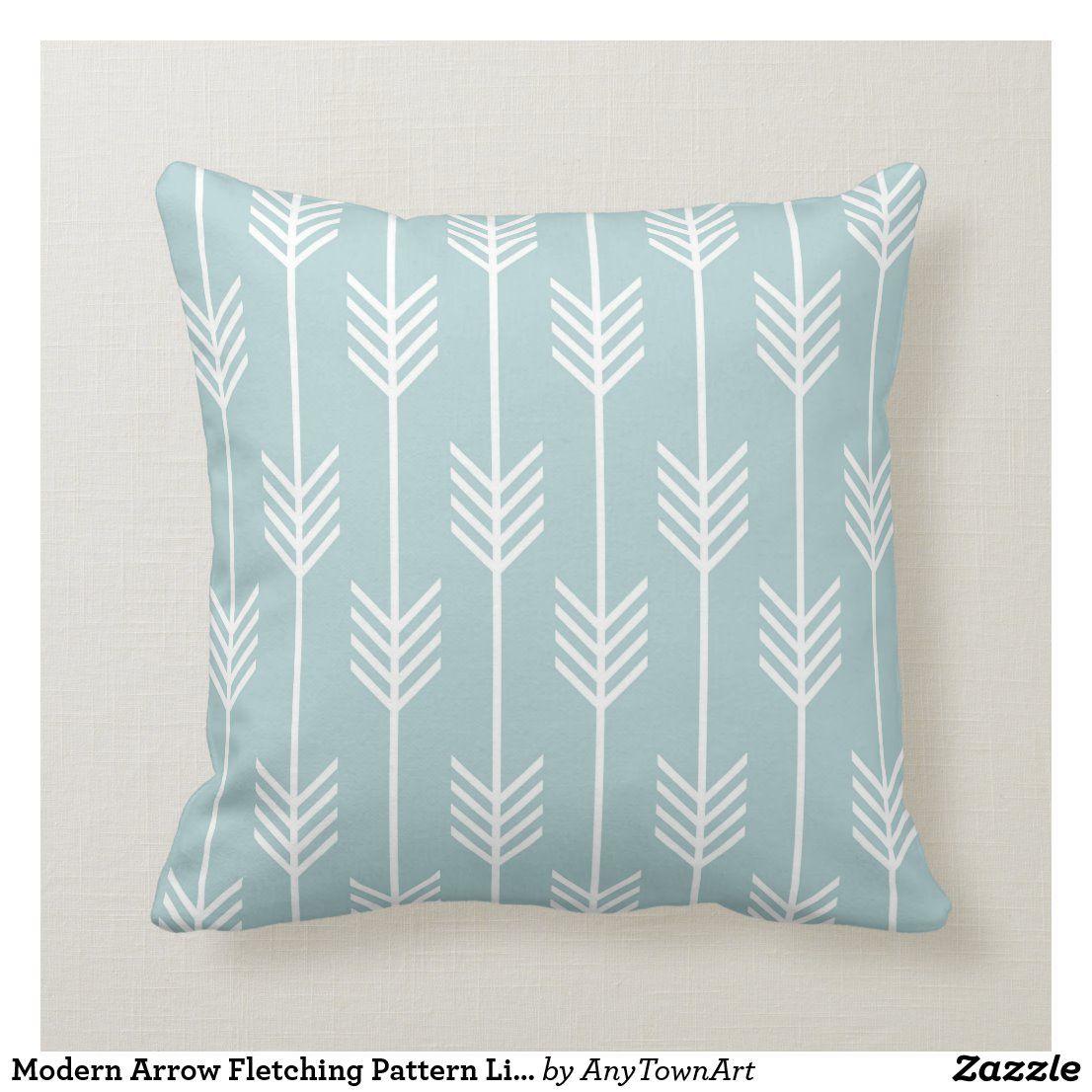 Pin Na Doshci Light Soft Blue Pillows Decorative Cushions