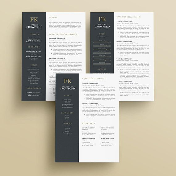 Resume Template for Word and Pages Simple Resume Clean
