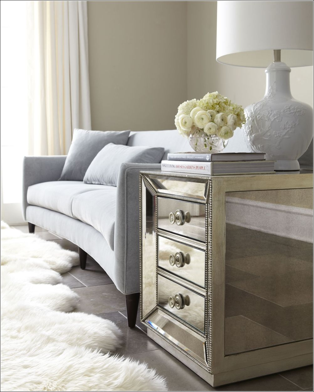 mirrored side table. Love Mirrored Furniture, But, Oh, The Fingerprints Side Table
