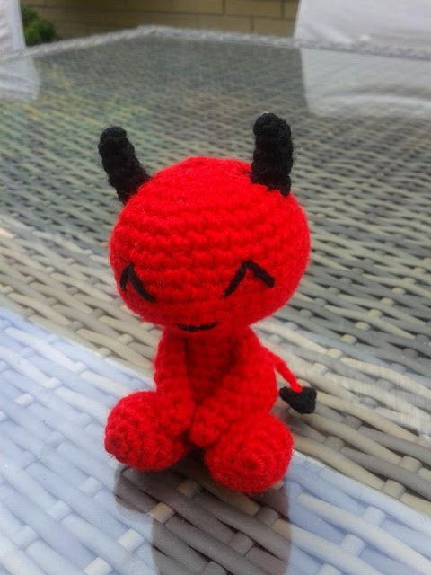 FLUFFY WORLD Amigurumis Diablillo, little demon amigurumi, crochet ...