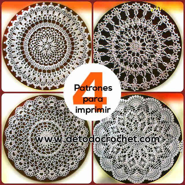 4 patrones de tapetes crochet puntadas de ganchillo for Tapetes de ganchillo