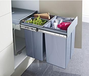20 Litre White Kitchen Bin