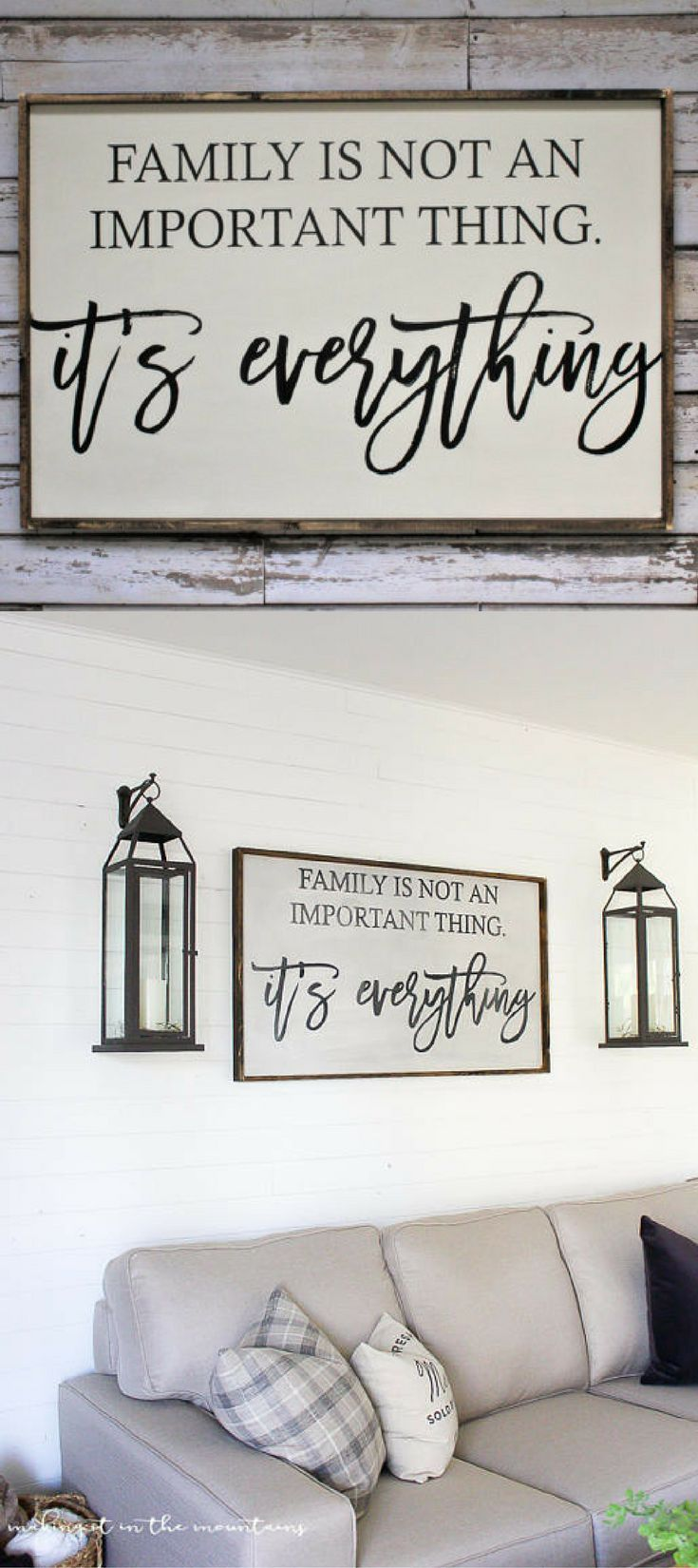 Livingroom wood sign. Farmhouse signs Family sign