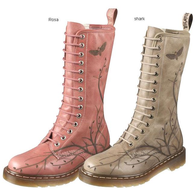 Dr. Martens Laser Cut Out Vine Leather Boots