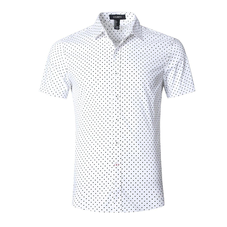 265ecf2f2 Men's Casual Dress Cotton Polka Dots Short Sleeve Shirts - Mini Polka Dot -  CF17YWT9OO5,Men's Clothing, Shirts, Dress Shirts #Men #fashion #clothing ...