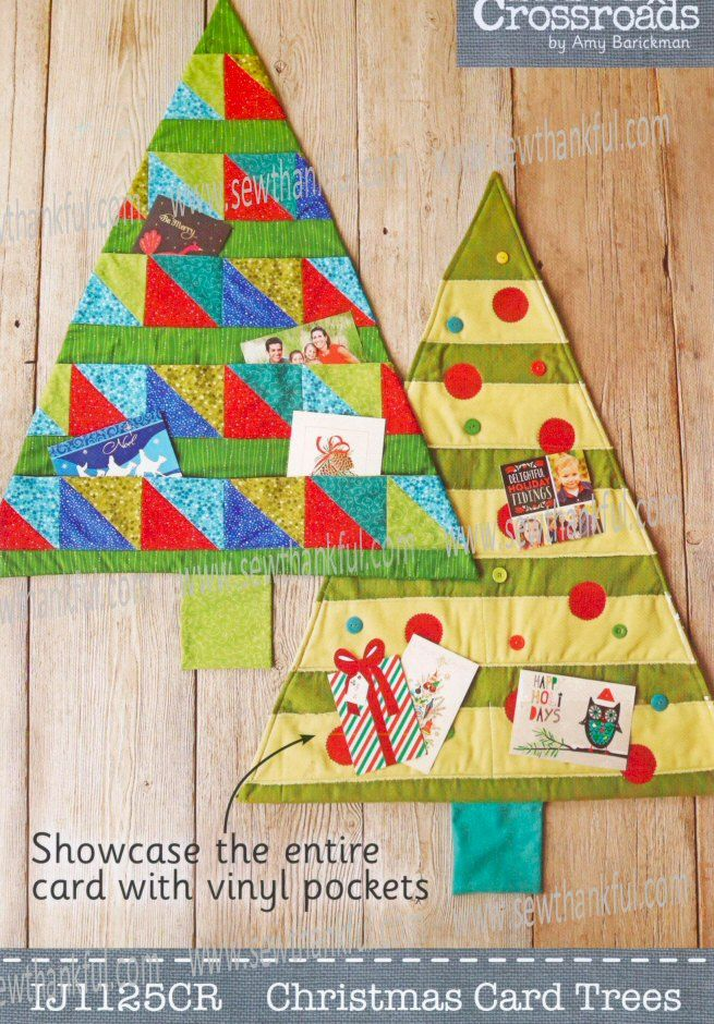 SPOTLIGHT SUPER SPECIAL now thru 11:59PM ET on Wednesday, 10/7/15...Christmas Card Trees sewing pattern from Indygo Junction - IJ1125CR