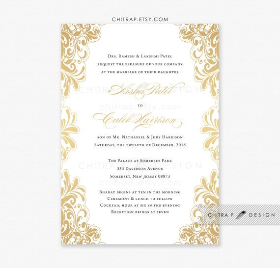 black white gold wedding invitations with luxe white envelopes and optional gold foil liners - Gold And White Wedding Invitations