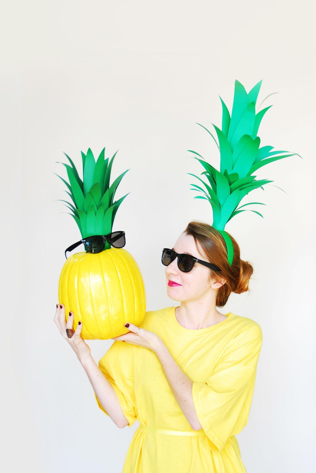 DIY Pumpkin Pineapple & DIY Pineapple Halloween Costume
