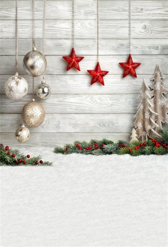 Star In 2020 Christmas Can Only 5x7ft Christmas Backdrop Xmas Tree Balls Star Decoration