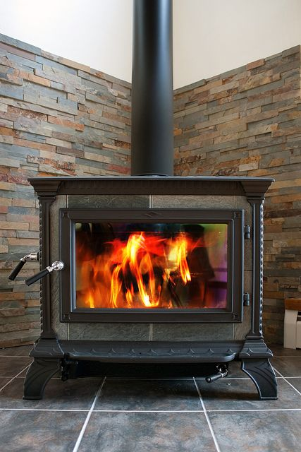 Can Tile Be Used Behind A Woodstove Photo Wood Burning Stove Corner Wood Stove Wood Stove Hearth