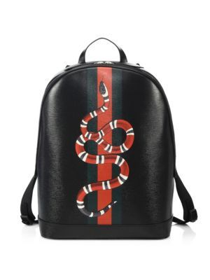 484b9b312 GUCCI Snake Printed Leather Backpack. #gucci #bags #leather #backpacks #