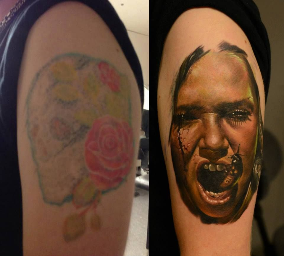 Cover Up In Progress By Dan Yakovlev Cover Up Tattoos Cover Tattoo Tattoos