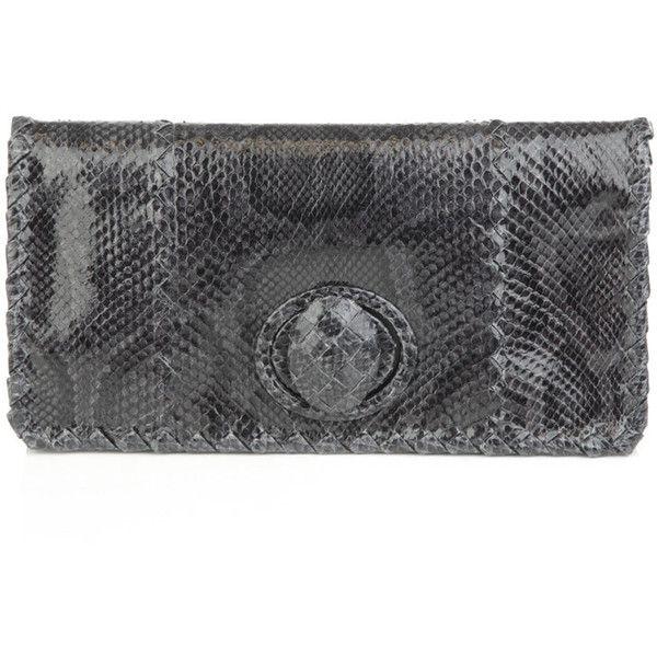 31861d55e426 Bottega Veneta Python clutch bag ($2,302) ❤ liked on Polyvore ...