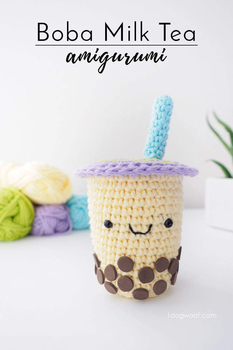Boba Milk Tea Amigurumi Crochet Pattern | *** Beautiful FREE Crochet ...