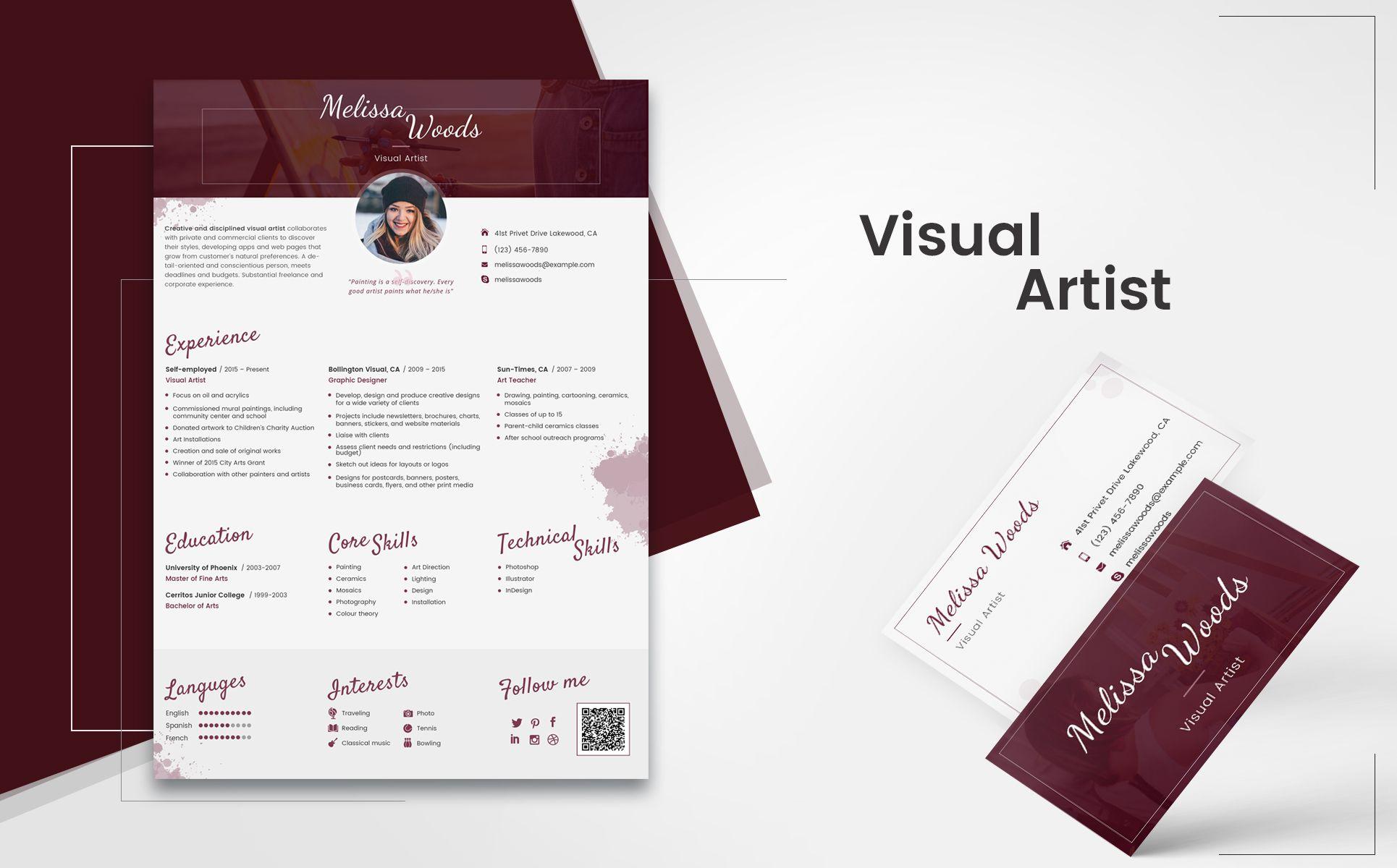 melissa woods visual artist resume template resume visual woods melissa