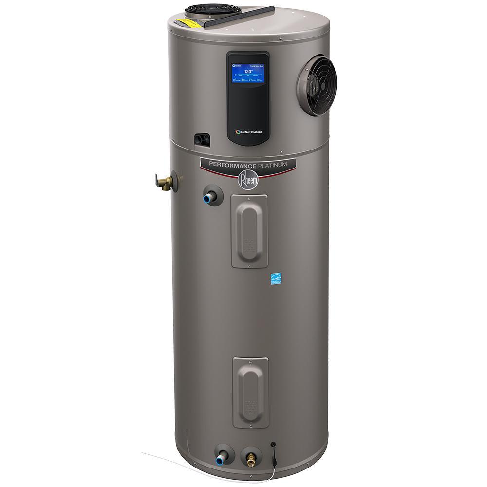 Rheem Performance Platinum 50 Gal 10 Year Hybrid High Efficiency Electric Tank Water Heater Electric Heat Pump Water Heater Hot Water Heater